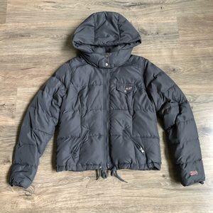 Hollister puffer jacket.